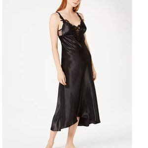 Flora Nikrooz Stella Satin Venise Trim Nightgown-M